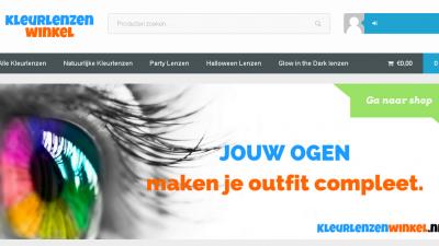 Website KleurlenzenWinkel.nl
