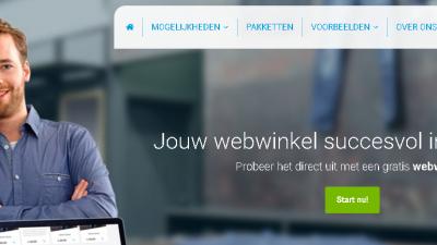 CCV Shop uiterlijk van de website